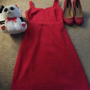 New the limited sz 4 red pencil sweetheart dress